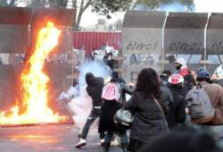 Disturbios en las afueras de San Lázaro y en el centro histórico del DF