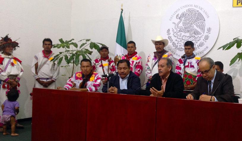 Buscan indígenas de Nayarit ayuda para la solución a sus problemas en la ciudad de México