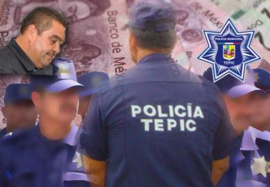 SIGUEN SIN PAGAR EL AGUINALDO A POLICÍAS DE TEPIC