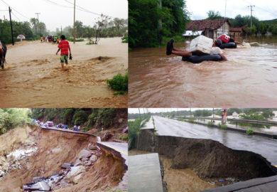Ciclones Ingrid y Manuel dejan daños en todo México