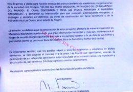 Reclamo internacional, exigen a Peña Nieto cancele obras de presa Las Cruces y Canal Centenario