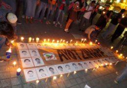 Con indignación, Nayarit participa de la acción global Una Luz Por Ayotzinapa