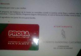 Empieza campaña electoral y ya detectan entrega de tarjetas Prosa y despensas