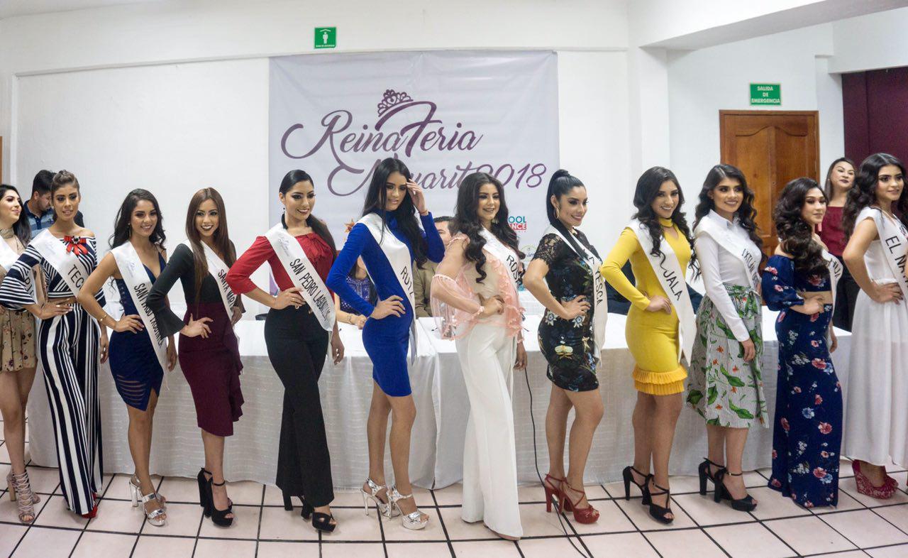 Presenta Gobierno del Estado a las candidatas a Reina de la Feria Nayarit 2018