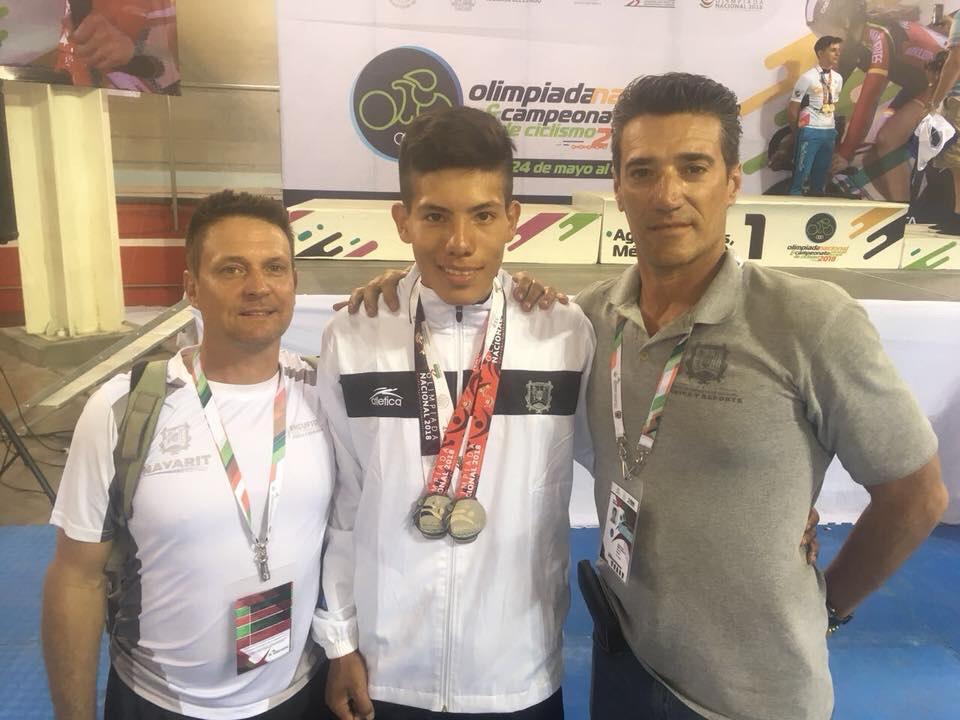 Nayarit se lleva doble medalla de plata en ciclismo