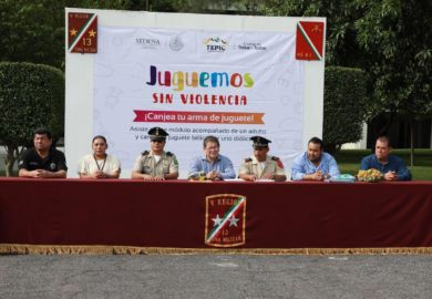 """Ayuntamiento de Tepic y SEDENA inician programa: """"Juguemos sin Violencia"""""""