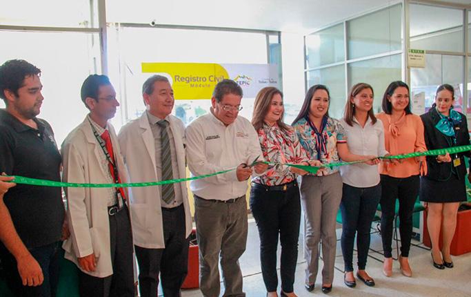 Castellón Fonseca inauguró Módulo del Registro Civil en la Clínica 1 del IMSS