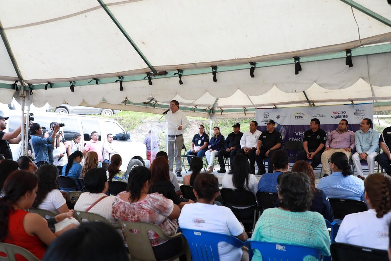 Gobierno del estado y Ayuntamiento de Tepic, se coordinan para prevenir delitos
