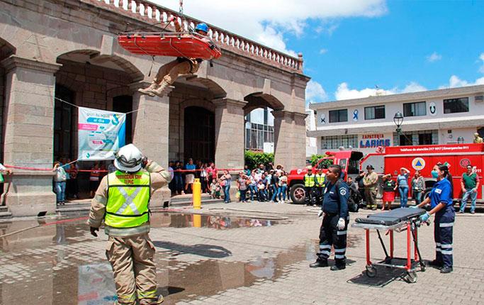 Tepic participó el en Macro Simulacro Nacional para conmemorar los sismos de 1985 y 2017 en CDMX