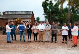 Ayuntamiento de Tepic inauguró obra de empedrado en el poblado Benito Juárez