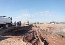 Inicia reconstrucción de bordos en Tecuala