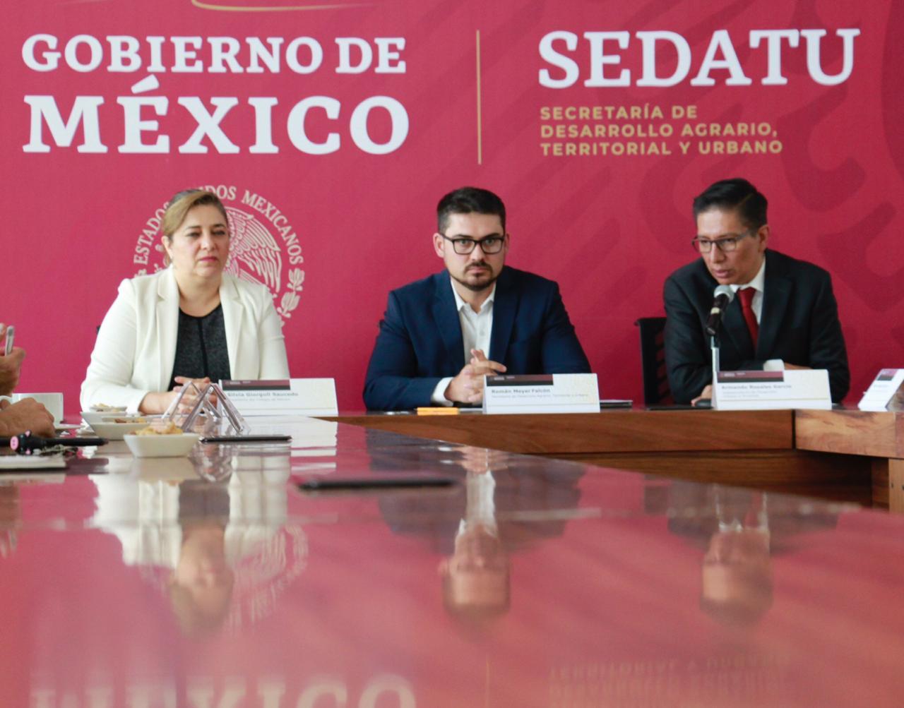 Firman Sedatu y Colmex convenio general de colaboración