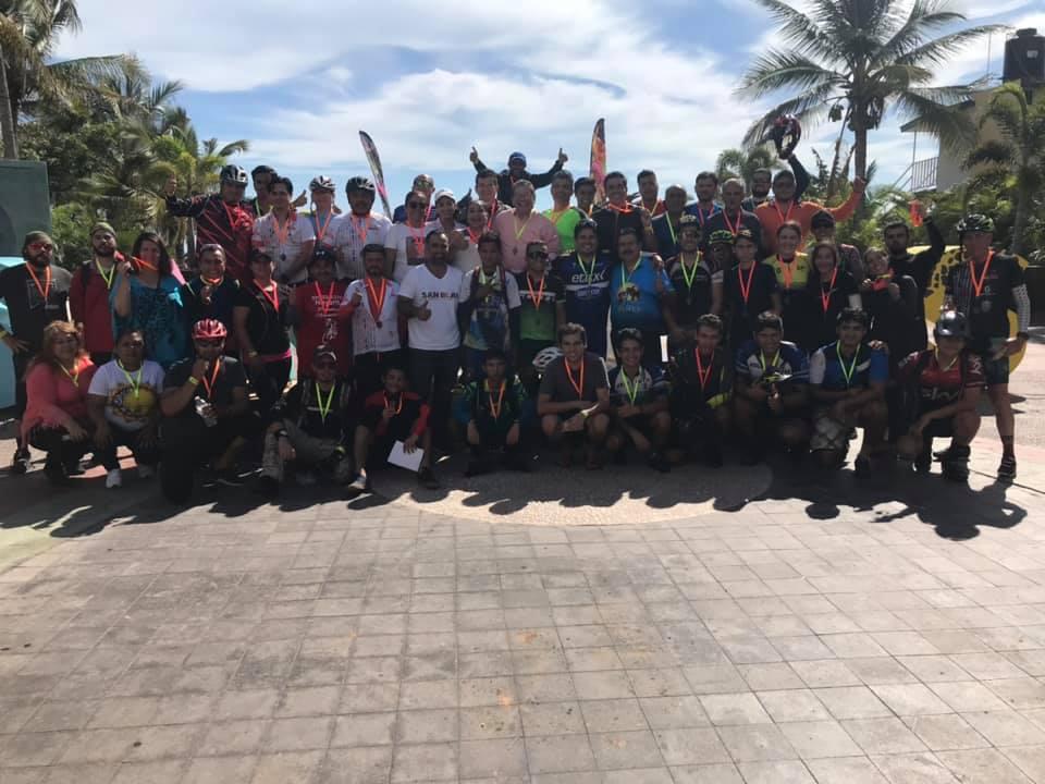 Rotundo éxito la ruta ciclista Tepic- San Blas