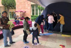 Llevan planetario móvil a niños hospitalizados