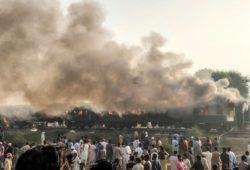 Mueren más de 70 personas al explotar bombonas de gas en tren