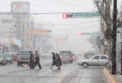 Nevadas y fuertes vientos se pronostican en norte del país
