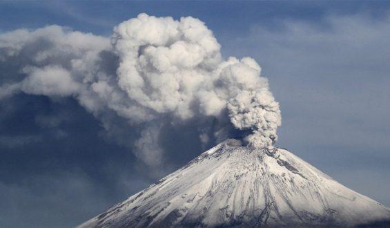 Popocatépetl registra 101 exhalaciones