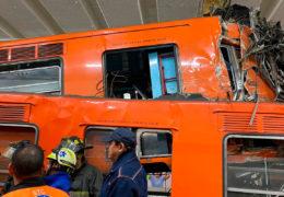 41 heridos y un muerto tras choque de trenes en estación Tacubaya