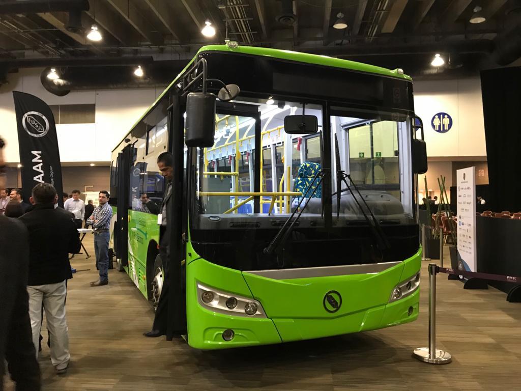 Este es el autobús eléctrico que comenzará hoy a circular en Jalisco