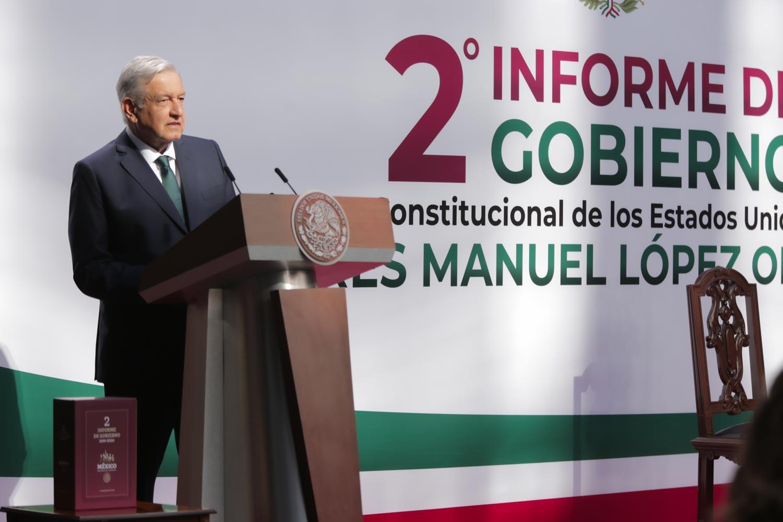 AMLO presenta segundo informe de gobierno
