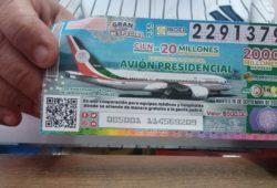 Darán 'cachitos' de rifa de avión presidencial a hospitales Covid
